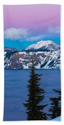 Vibrant Winter Sky Beach Towel