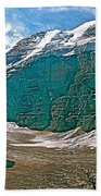 Victoria Glacier From Plain Of Six Glaciers In Banff Np-alberta Beach Towel