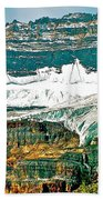 Victoria Glacier From Plain Of Six Glaciers Trail In Banff Np-ab Beach Towel
