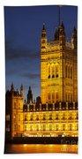 Victoria Tower - London Beach Towel