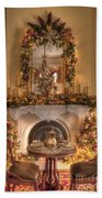 Victorian Christmas By The Fire Beach Sheet