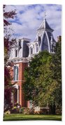 Victorian Home In Autumn Photograph As Gift For The Holidays Print Beach Towel
