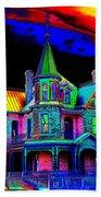 Victorian House Pop Art Beach Towel