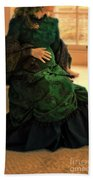 Victorian Lady Expecting A Baby Beach Towel by Jill Battaglia