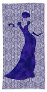 Victorian Lady In Blue Beach Towel