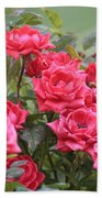 Victorian Rose Garden Beach Towel