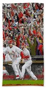 Victory - St Louis Cardinals Win The World Series Title - Friday Oct 28th 2011 Beach Towel