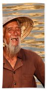 Vietnamese Boatman 02 Beach Towel