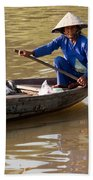 Vietnamese Boatwoman 01 Beach Towel