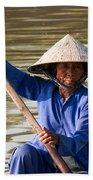 Vietnamese Boatwoman 02 Beach Towel