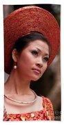 Vietnamese Bride 09 Beach Towel