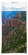 View Five From Walhalla Overlook On North Rim Of Grand Canyon-arizona Beach Towel