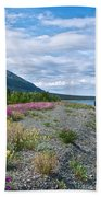 View Four Kluane Lake From Cottonwood Campground Near Destruction Bay-yk Beach Towel