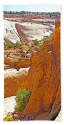 View From Above Capitol Gorge Pioneer Trail In Capitol Reef National Park-utah Beach Towel