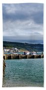 View From Back Beach - Lyme Regis Beach Towel