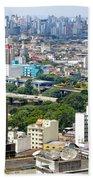 View From Edificio Martinelli 2 - Sao Paulo Beach Towel
