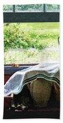 View From Kitchen Window Beach Towel