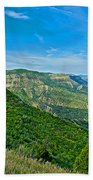 View From Knife Edge Road Overlooking Montezuma Valley In Mesa Verde National Park-colorado   Beach Towel