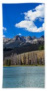 View From Little Redfish Lake Beach Towel
