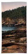 View From Ocean Drive Maine Beach Towel