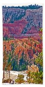 View From Queen's Garden Trail In Bryce Canyon National Park-utah Beach Towel