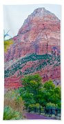 View From South Campground In Zion Np-ut Beach Towel