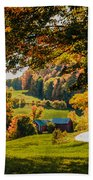 View From The Hill Beach Towel