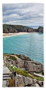 View From The Minack Theatre Beach Towel