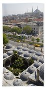 View From The Valens Aqueduct In Istanbul Beach Towel