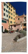 view in Sori Italy Beach Towel