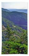 View Of Highlands Road From Skyline Trail In Cape Breton Highlands Np-ns Beach Towel