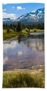 View Of Mount Tallac From Taylor Creek Beach Lake Tahoe Beach Towel