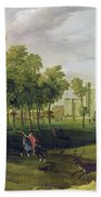 View Of Nonsuch Palace In The Time Beach Towel