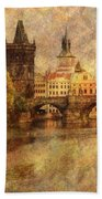 View Of Prague Beach Towel