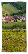 View Of Rodern From The Vineyards Of Alsace Beach Towel