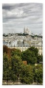 View Of Sacre Coeur From The Musee D'orsay Beach Towel
