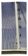 View Of Spokes Of The Singapore Flyer Along With The Base Section Beach Towel