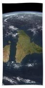 View Of The Indian Subcontinent Beach Towel