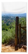 View Of The Ojai Valley Beach Towel