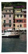 View Of The Portofino, Liguria, Italy Beach Towel