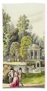 View Of The Temple Of Diana At Erlaw Beach Towel