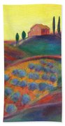View On The Olive Grove Beach Towel