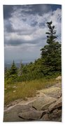 View On Top Of Cadilac Mountain In Acadia National Park Beach Towel