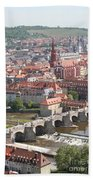 View Onto The Town Of Wuerzburg - Germany Beach Towel