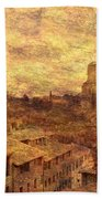 View Over Siena And San Domenico Beach Towel