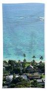 View Overlooking The Coastline Beach Towel