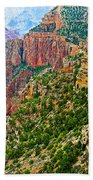 View Six From Walhalla Overlook On North Rim Of Grand Canyon-arizona Beach Towel