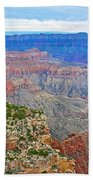 View Three From Walhalla Overlook On North Rim Of Grand Canyon-arizona  Beach Towel