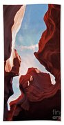 View To The Heavens From Antelope Canyon In Arizona Beach Sheet