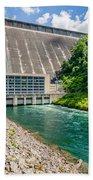 Views Of Man Made Dam At Lake Fontana Great Smoky Mountains Nc Beach Towel